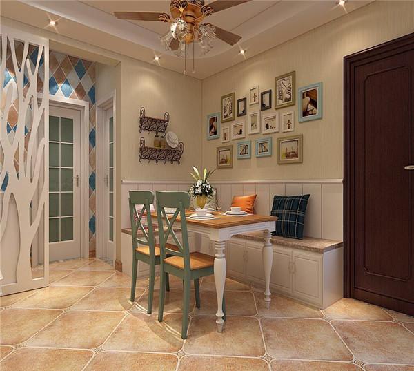 锦鼎国际107平米两室两厅美式田园效果图图片