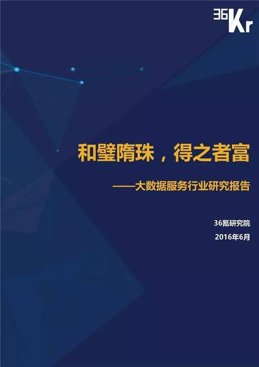 大数据服务行业研究报告 完整版PPT