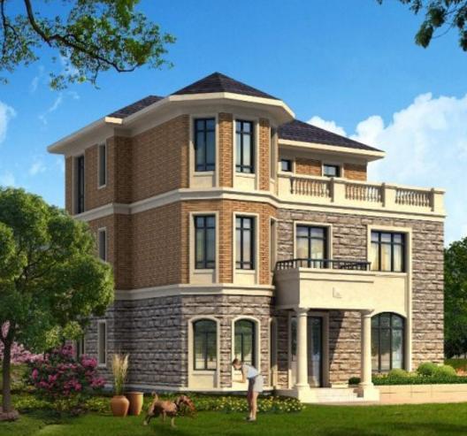 2016最新占地100三层欧式别墅设计图纸