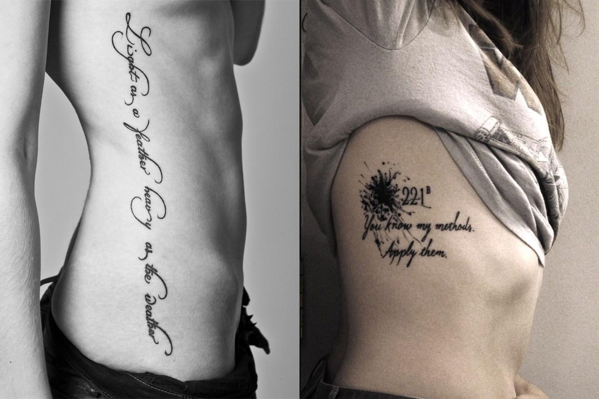 清新纹身:将语句牢牢地烙印在身上