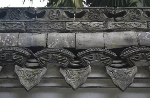 古建筑屋檐花纹