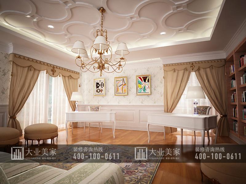 红橡墅369平米美式古典别墅装修效果图