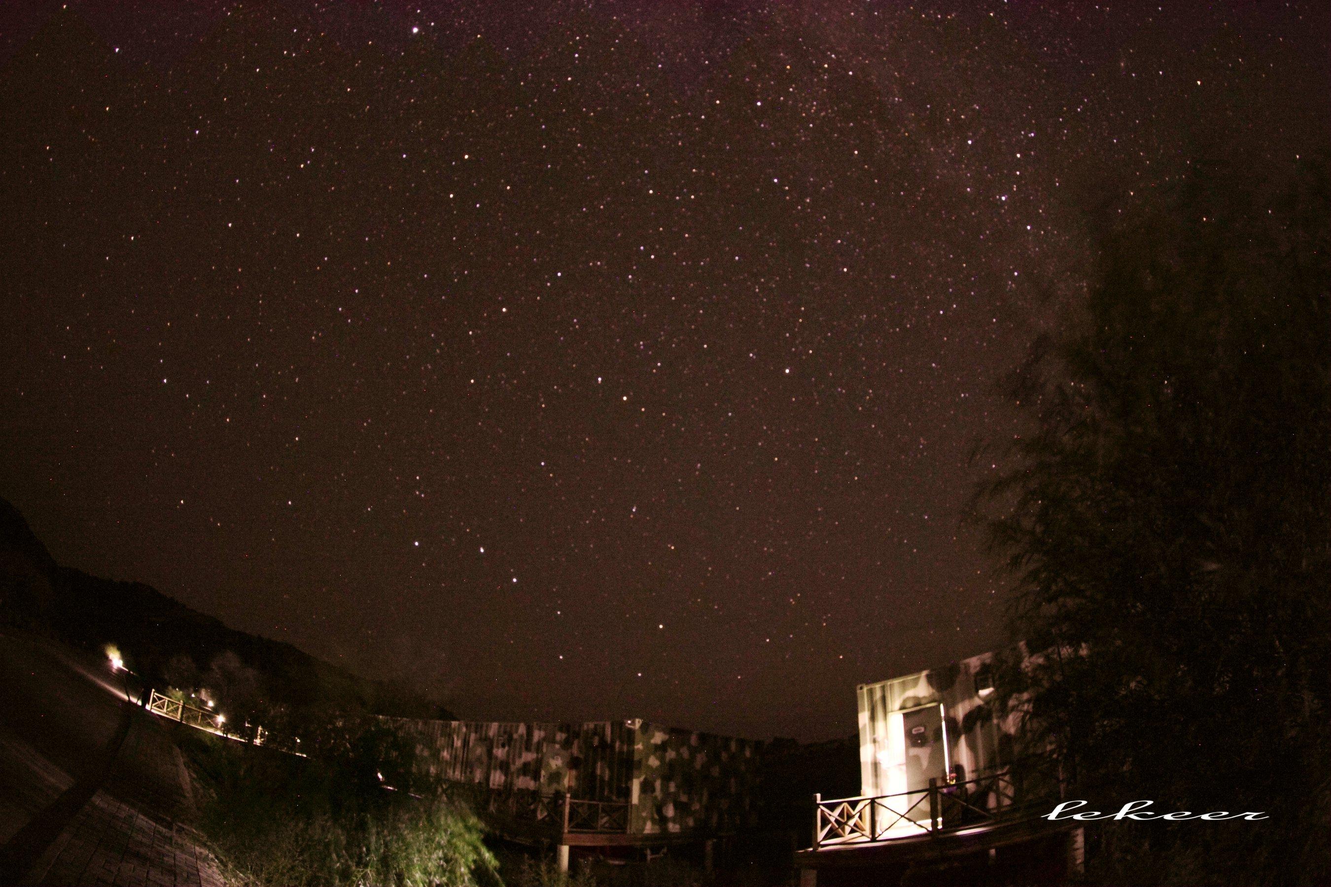玉龙沙湖的星空无比炫丽 发烧40度的可来这里退烧 - 勒克儿 - 党青博客