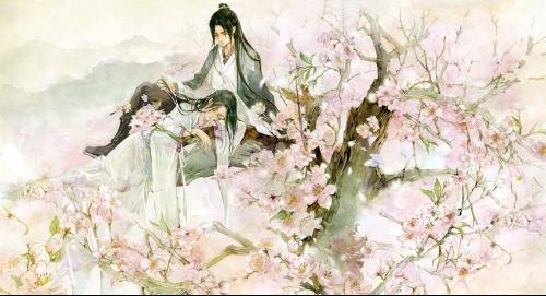 女手绘古风 桃花
