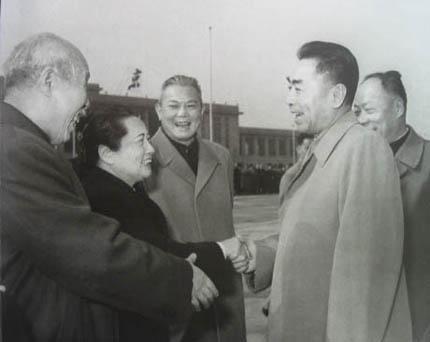 李先念副总理与周恩来,宋庆龄,董必武,陈毅