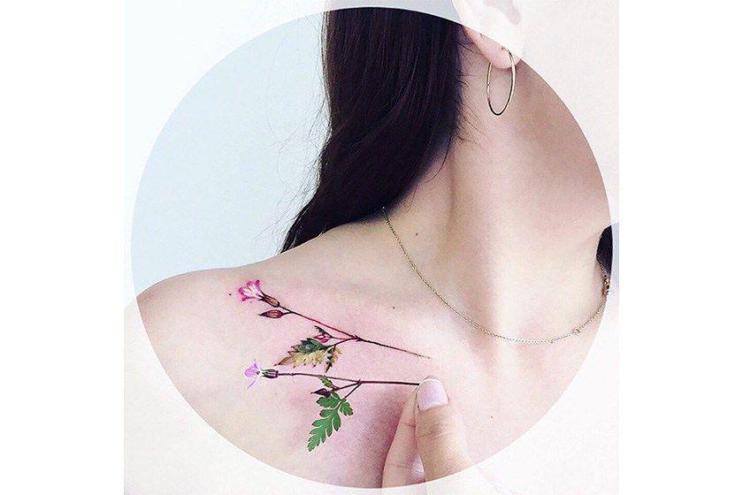锁骨链 耳环 围巾 项链_纹身图案