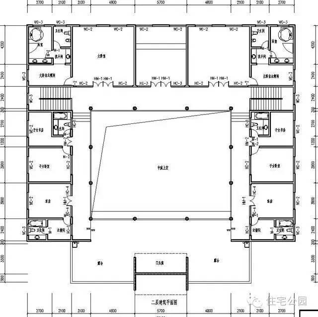 19米x8.5米房屋设计图