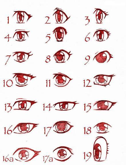 动漫人物绘画教程|眼睛绘画