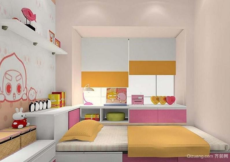 榻榻米床位里面及床头的矮柜也都相应的可以用来储物
