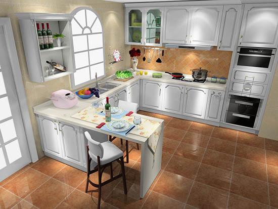 厨房餐厅一体装修效果图欣赏图片