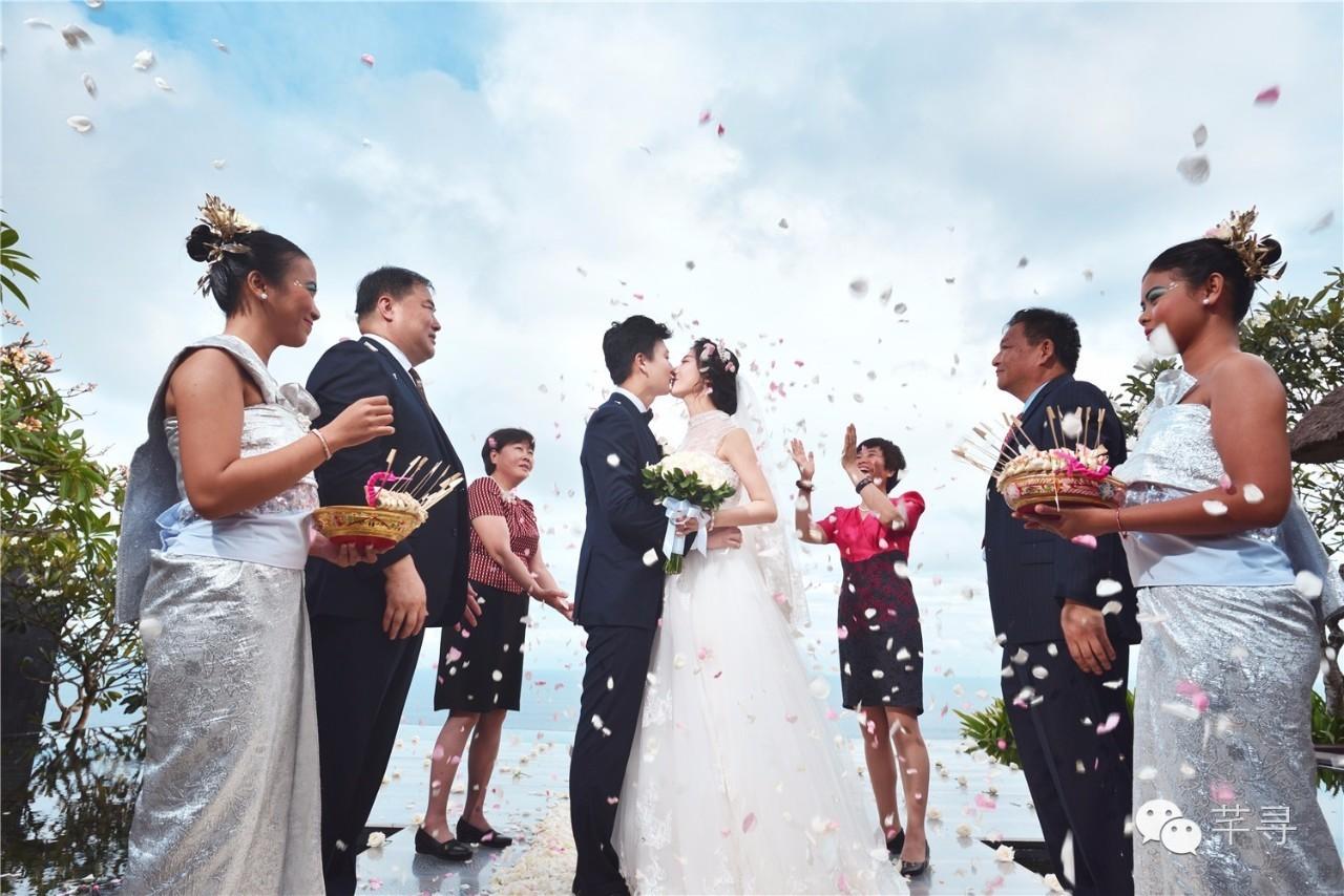 林心如霍建华同婚礼婚礼,芊寻巴厘岛场地迷醉酒关注视频图片
