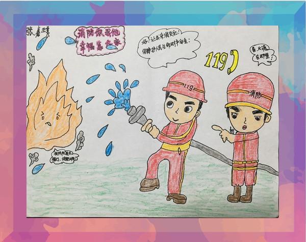 """展示儿童消防绘画作品,从7月27日起,""""武汉消防图片"""