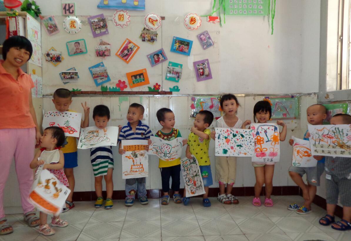 精彩!彩狐教育小朋友的水彩画二小览共和县大展学第图片
