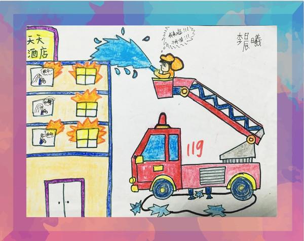 """""""我是小小消防员""""首届儿童绘画有奖征集活动作品网络图片"""