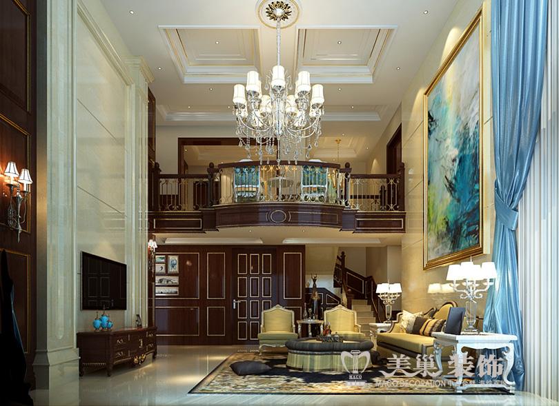 绿城雁鸣湖玫瑰园装修效果图古典欧式的深棕肌理