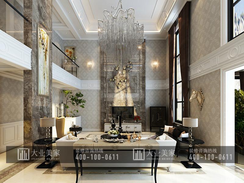 红杉溪谷258平米欧式古典风格别墅装修效果图