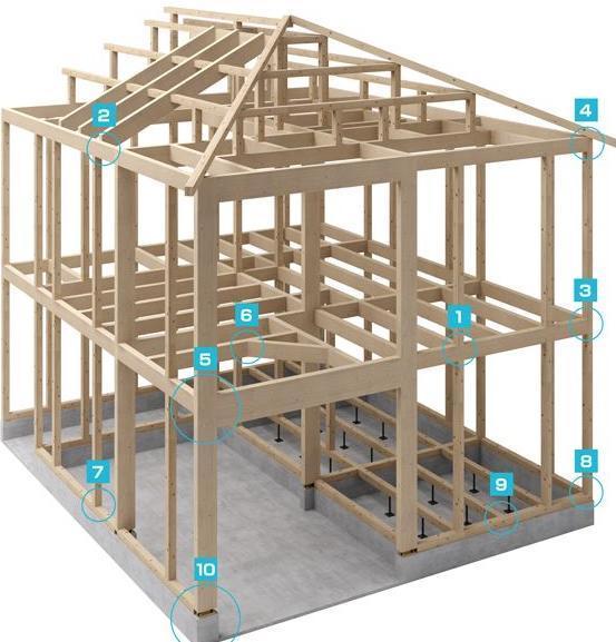 榫卯结构木质房屋,基础采用现浇钢筋混凝土地下