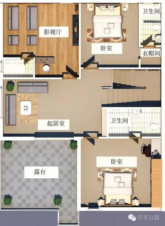 农村现代风格自建房 10米X12米 砖混只要18万