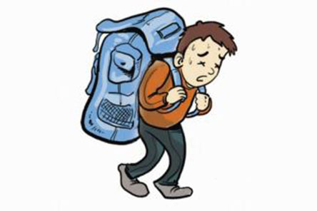 母婴 正文  据调查表明,我国小学生平均体重为50斤,小学生书包(含书本图片