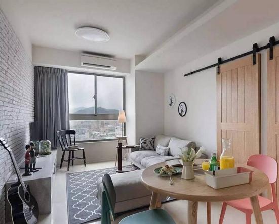 上海装修:文艺青年66平现代简约单身公寓