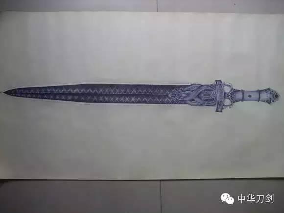 牛人用圆珠笔画中国古代刀剑,帅爆了