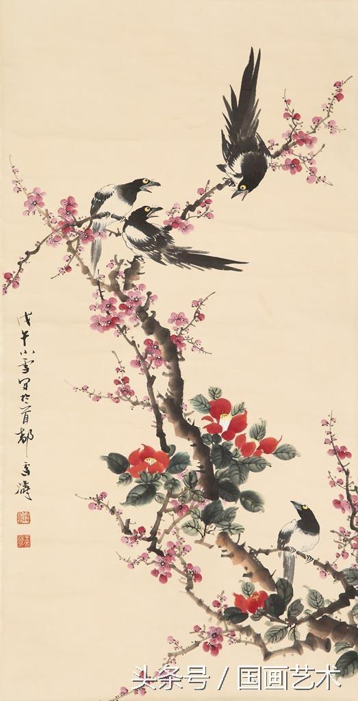 学习工笔花鸟画技法之构图