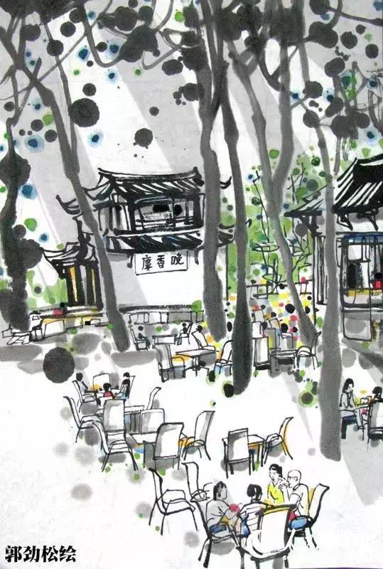 大画家手绘成都十大茶馆