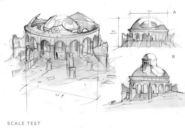 迪拜著名建筑手绘
