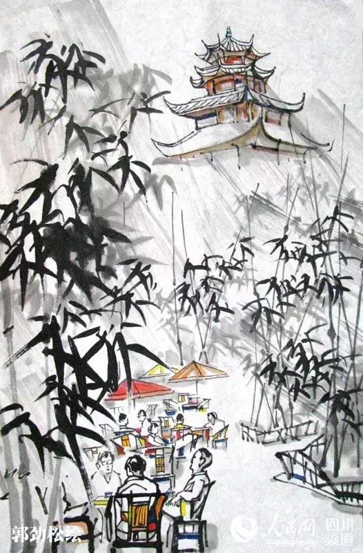 大画家手绘成都十大茶馆,满满都是回忆!