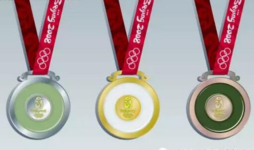 里约奥运会奖牌亮相,金牌含金6克高清图片