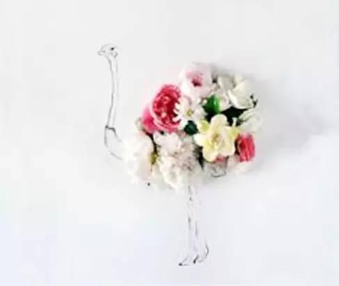 鲜花和简笔画的完美结合,原来生活还可以这么美