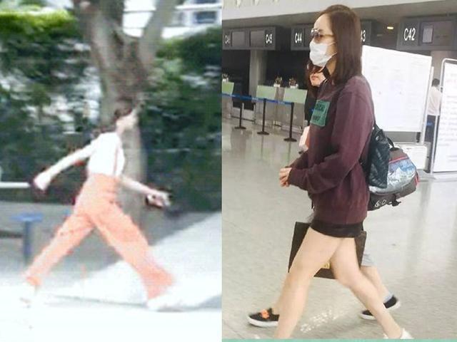 刘诗诗穿高跟鞋走路豪迈!还不如杨幂驼背好看?