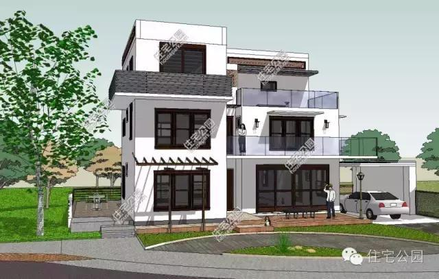 现代风格的别墅更加适合农村