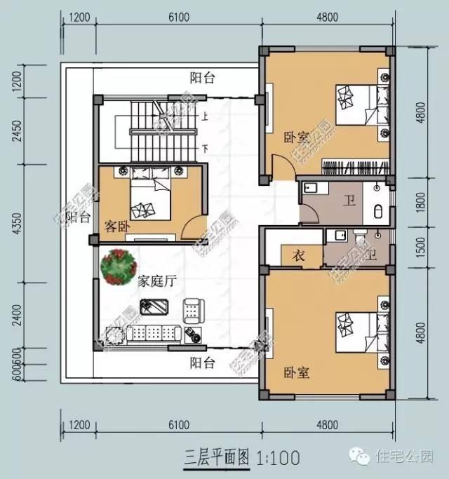 新农村自建房图纸15x13米 简欧式双车库大露台图片