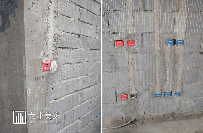 墙面砖拼花及斜铺:宜采用轴对称方式,轴线宜在功能性物品的正中,起始图片