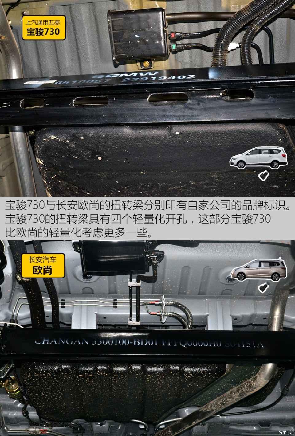 热销mpv底盘对比 宝骏730 vs 长安欧尚图片