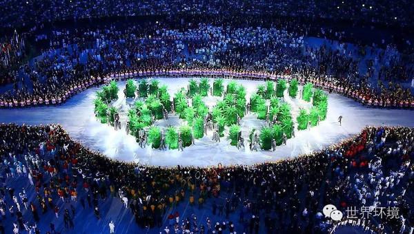 """里约奥运会开幕式的""""环保""""——那些精彩的""""巴西绿""""你图片"""