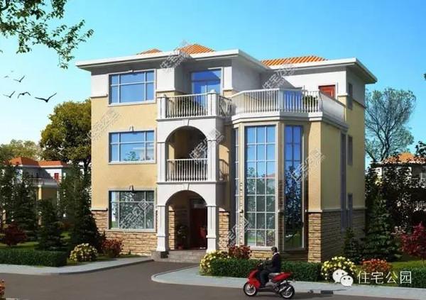 乡村150平米欧式房子外观图
