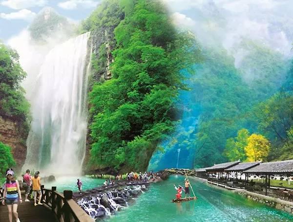 湖北周边最爽的瀑布 三峡大瀑布 夏天就是要这么玩才嗨