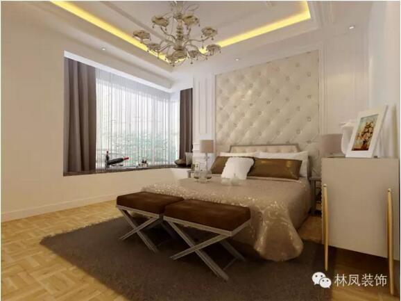 卧室结合了客厅的欧式元素