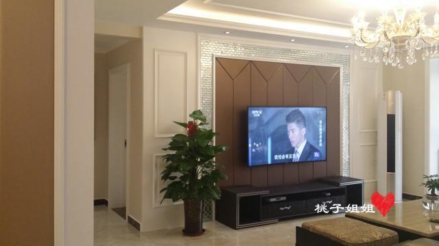 天海誉天下139平米三室简欧风格完工实景图图片