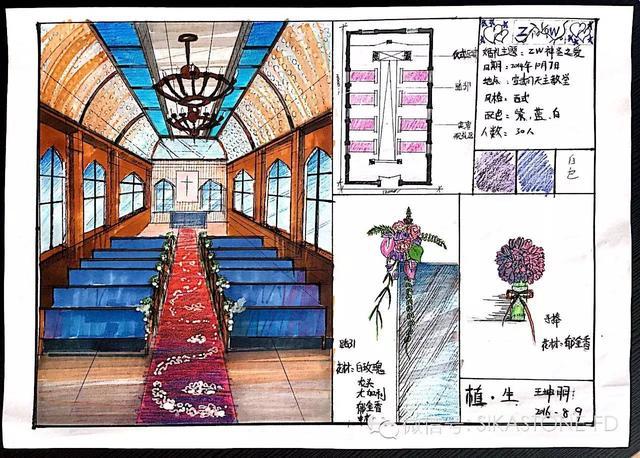 花艺手绘毕业提案设计,效果爆棚
