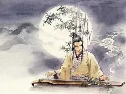 李白望月简笔画