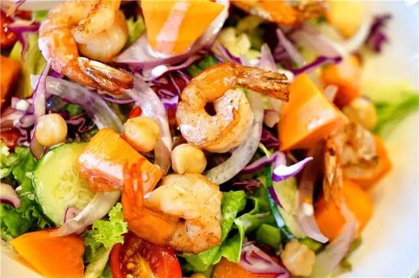 木瓜虾,牛油果,凤尾,小番茄,生菜,紫小米,甘蓝,鹰嘴豆,v木瓜黄瓜.洋葱2s#图片
