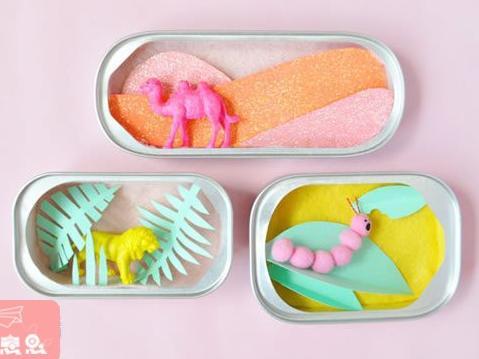 罐头盒废物利用diy制作童话书般的小手工艺品