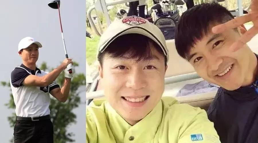 一大波奥运冠军和萌娃杨阳洋奥莉森碟靠近高尔夫