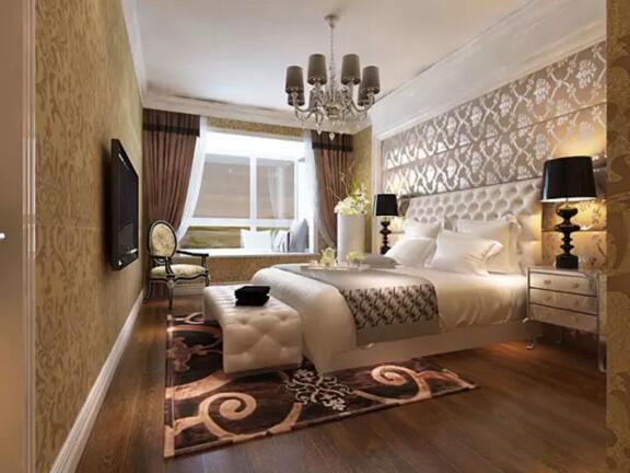 保利达翠堤湾简欧风格三室两厅一厨两卫装修效果图图片