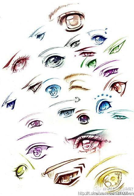 漫画设计绘画教程|漫画眼睛教程