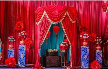常德夏季举行户外中式婚礼 现场怎么布置图片