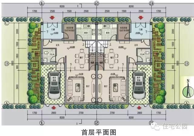 新农村自建房8x10米 可独栋双拼带车位